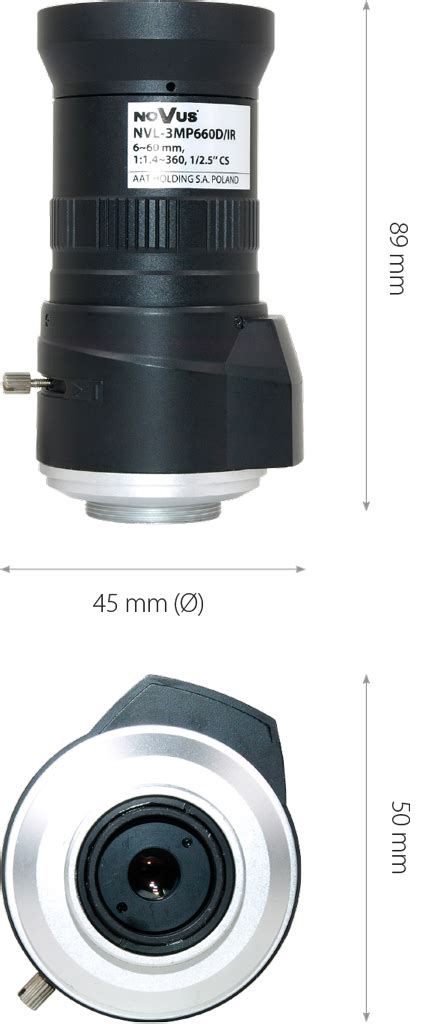 Alarm Nvl Lens For Ip And Ahd Cameras Nvl 3mp660d Ir Novus Professional Solution For Your Security Systems