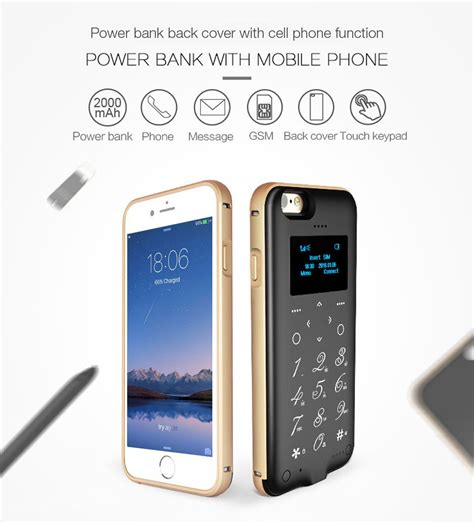 P6 1 3 Inch Oled Screen Back Cover Mobile Power Bank