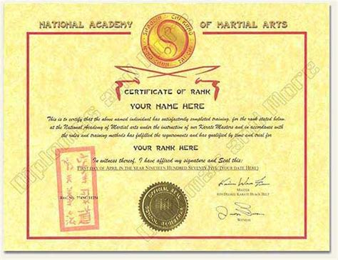 free martial arts certificate templates martial arts certificate martial arts certificate dipmart