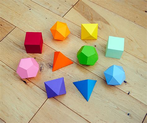 Paper Folding Geometric Shapes - 6 fabulous diy origami crafts handmade