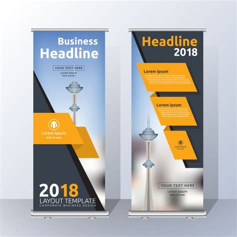 Roll Up Template Design Vector Free Download Roll Up Banner Design Template Free