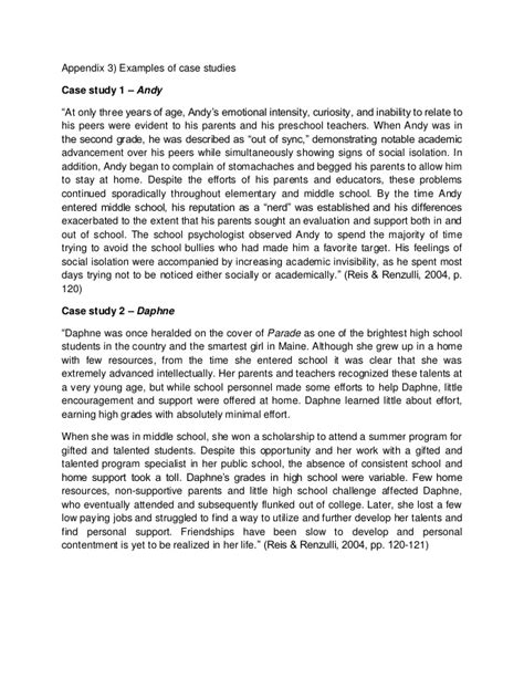 psychology case study essay exle stan case study