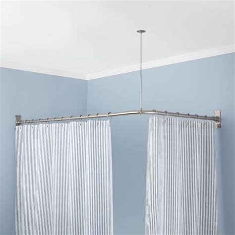 angled shower curtain rod 25 best ideas about corner curtains on corner curtain rod corner window curtains