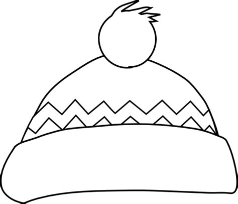 hat outline template winter hat outline clip at clker vector clip