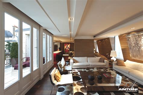 Staircase Design Inside Home Magnificent Luxury Penthouse Apartment In Paris 171 Adelto