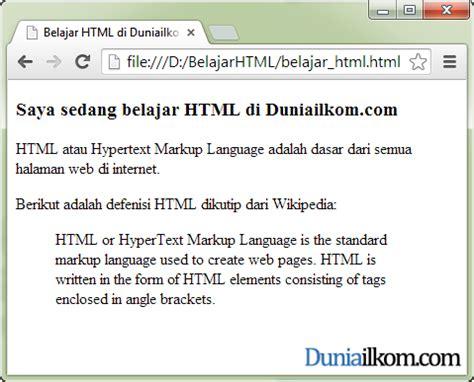 membuat text html cara membuat kutipan di dalam html tag blockquote dan tag