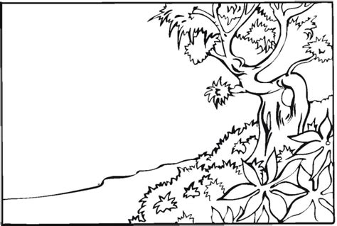 Coloring Page Landscape by How To Draw Land Scape