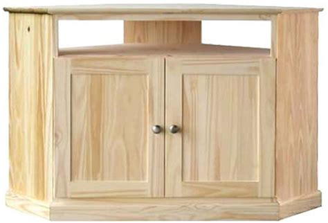 Pine Tv Cabinets With Doors 46 Inch Pine Corner Tv Cabinet W Wood Doors Finish And Save
