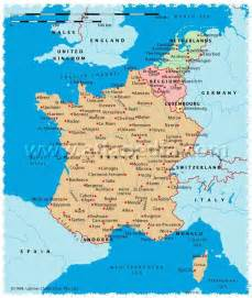 Map Of France And Belgium by Political Map Of France Monaco Luxembourg Belgium
