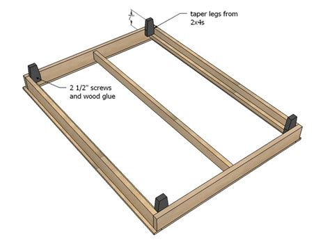 Simple Platform Bed Frame Plans White Build A Hailey Platform Bed Free And Easy Diy Project And Furniture Plans Bed