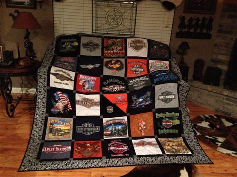 Make Quilt Out Of T Shirts by Harley Davidson Quilt Made Out Of T Shirts Fabric Crafts