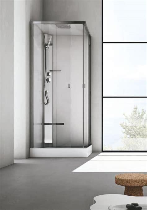 box doccia con seduta box doccia con seduta in cristallo per bagno moderno