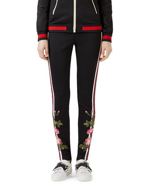 pattern jersey leggings gucci embroidered jersey leggings black pattern