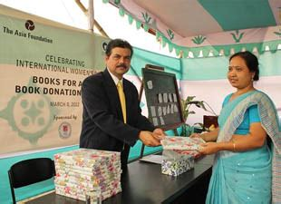 pragmatic philanthropy asian charity explained books the asia foundation distributes 7 500 books to in