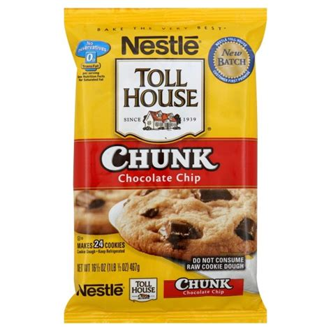 nestle toll house cookie bars nestle toll house cookie dough bar chocolate chunk 24 ct