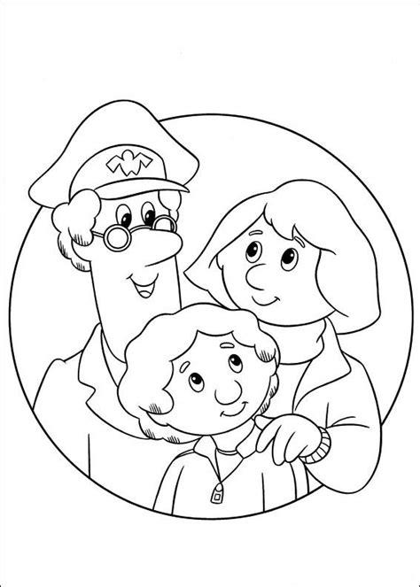 postman pat coloring pages coloringpages1001 com