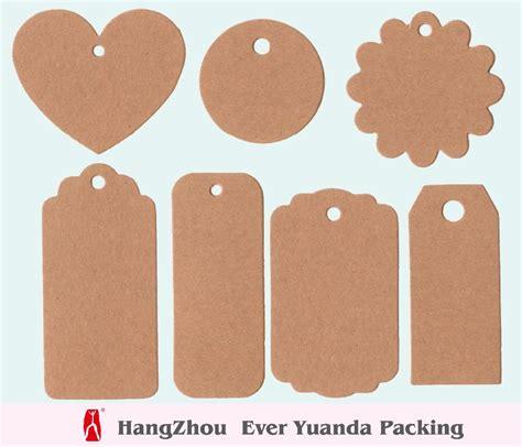 printable kraft paper hang tags custom organic cotton brand name garment new hang tag