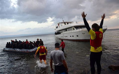refugee boat hoax watch video greek coastguard caught deliberately trying