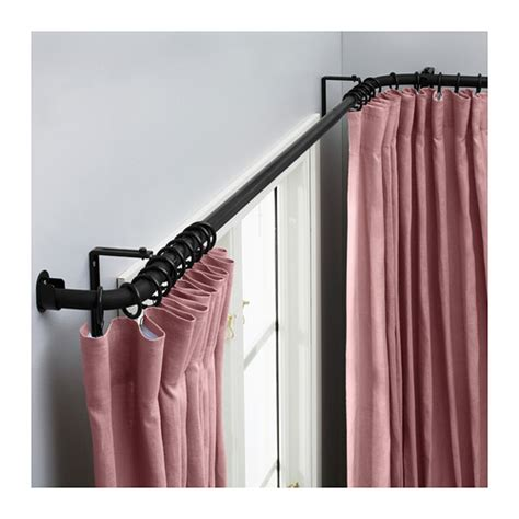 ikea curtain rods hugad curtain rod combination bay window ikea