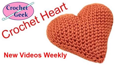 crochet heart pattern free youtube class how to make crochet knit crochet 3d puffy heart