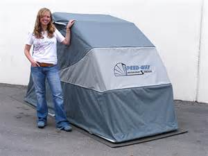 retractable scooter shelter mts gry speed way weather