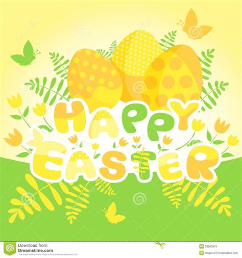 Happy Easter Card Template by Happy Easter Card Template Stock Vector Illustration Of