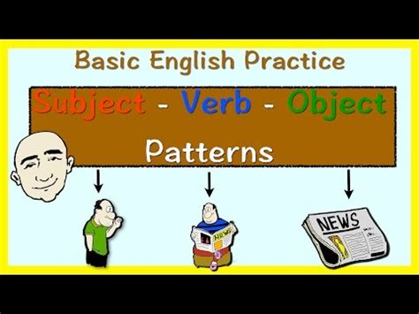 pattern english speaking subject and object english grammar doovi