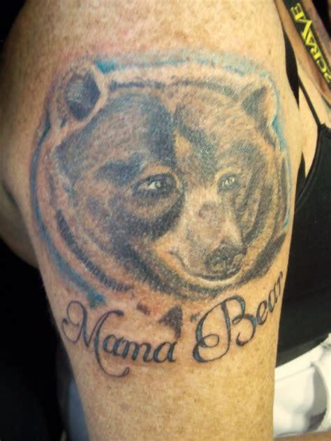 mama bear tattoo tattoos teddy and papa tattoos