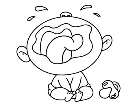 coloring page of crying baby tiny baby cry coloring pages coloring pages