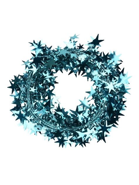turquoise star wired garland 7 6m christmas