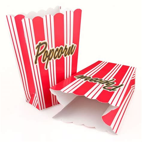 How To Make A Paper Popcorn Box - 8 striped popcorn boxes pipii