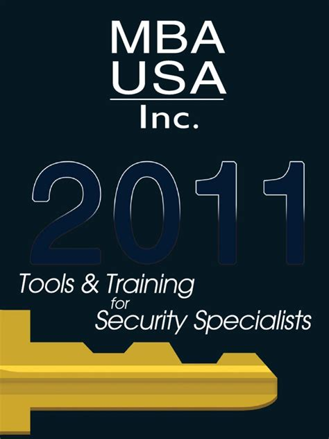 Mba Usa Tools mba usa 2011 catalog