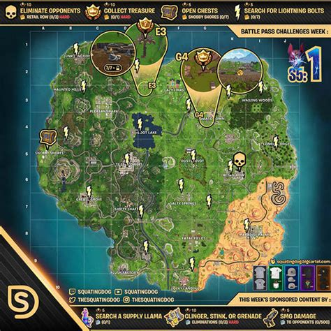 fortnite week 2 challenges fortnite challenges sheet how to solve every season