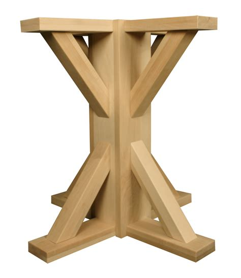 carved wood table bases craftsman square pedestal