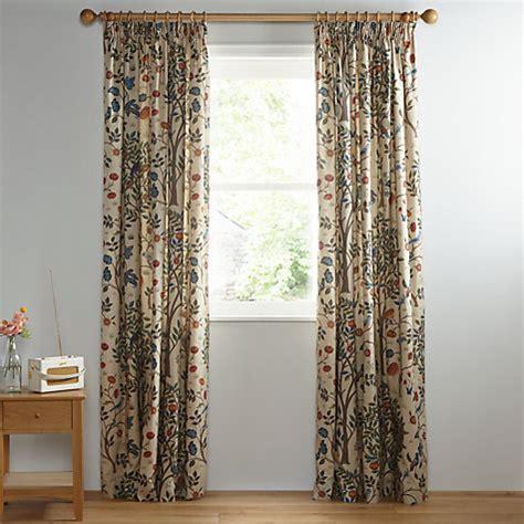john lewis tree curtains buy morris co kelmscott tree pair lined pencil pleat