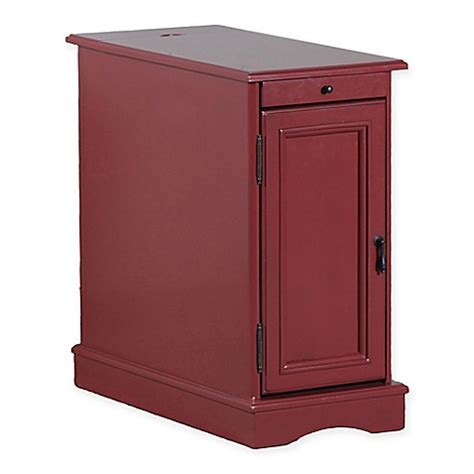 bathroom accent tables buy butler accent table in red from bed bath beyond