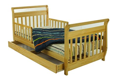 toddler bed with storage drawer dream on me sleigh toddler bed with storage drawer