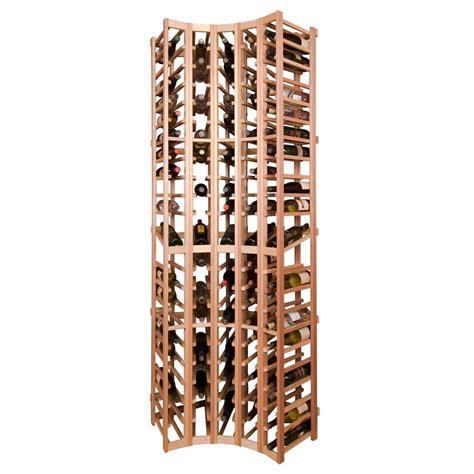 vinotemp curved corner wine rack module 105 bottles crv