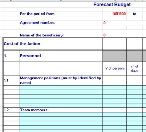training budget template excel
