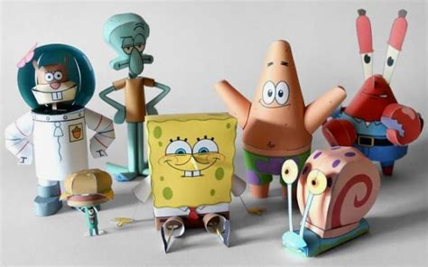 And Friends Papercraft - papermau spongebob and friends papercraft collection by