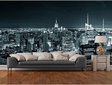 wallpaper store manhattan aliexpress com buy custom black and white retro