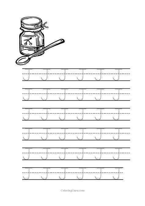 Letter J Worksheets by Free Printable Tracing Letter J Worksheets For Preschool