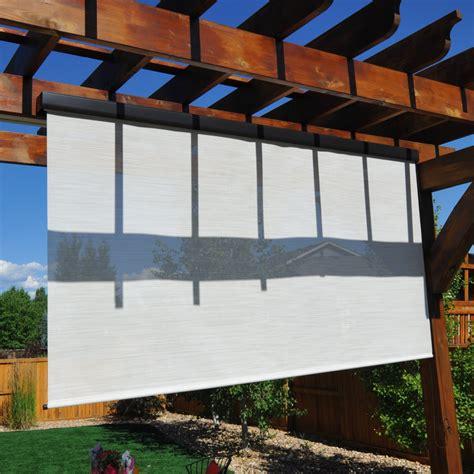 shade fabric outdoor keystone fabrics titanium plus pole operated exterior solar shade