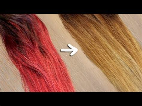 Getting Hair Out Of by Remove Bright Dye Without