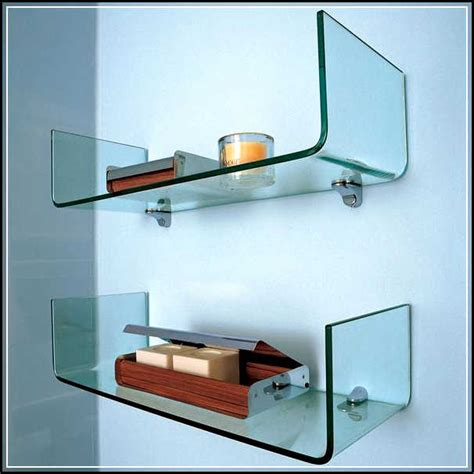 Glass Shelves For Bathroom The Right Spots To Mount The Gorgeous Glass Bathroom Shelves Home Design Ideas Plans