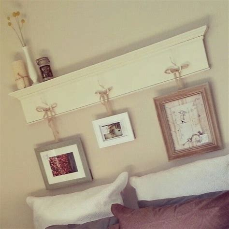 diy shelf headboard apartment decorating pinterest