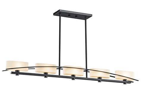 kichler kitchen lighting kichler 42018bk suspension island light