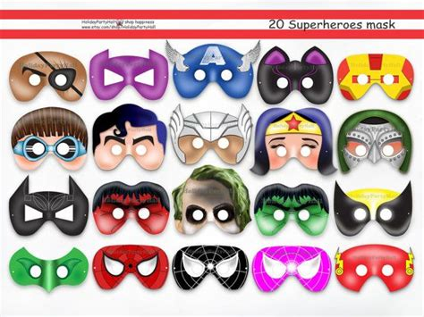 printable mask avengers unique comic hero printable masks collection superhero