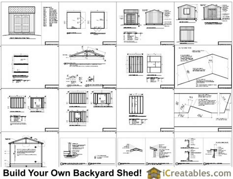 Free Shed Plans 10 X 12 by Tifany Free Storage Shed Plans 12x10