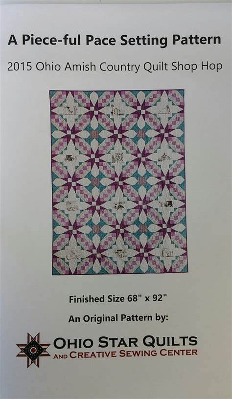 Amish Quilt Shop Hop by 2015 Amish Country Quilt Shop Hop Setting Pattern